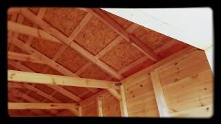 Закрытый навес для авто / Деревянный гараж(Закрытый навес из дерева построен за 6 дней. http://masterdachi.ru/ Основные характеристики построенного деревянного..., 2015-09-29T07:20:34.000Z)
