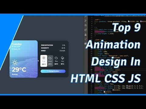 Top 9 Animation Design In HTML CSS Javascript (2019) - Free Download