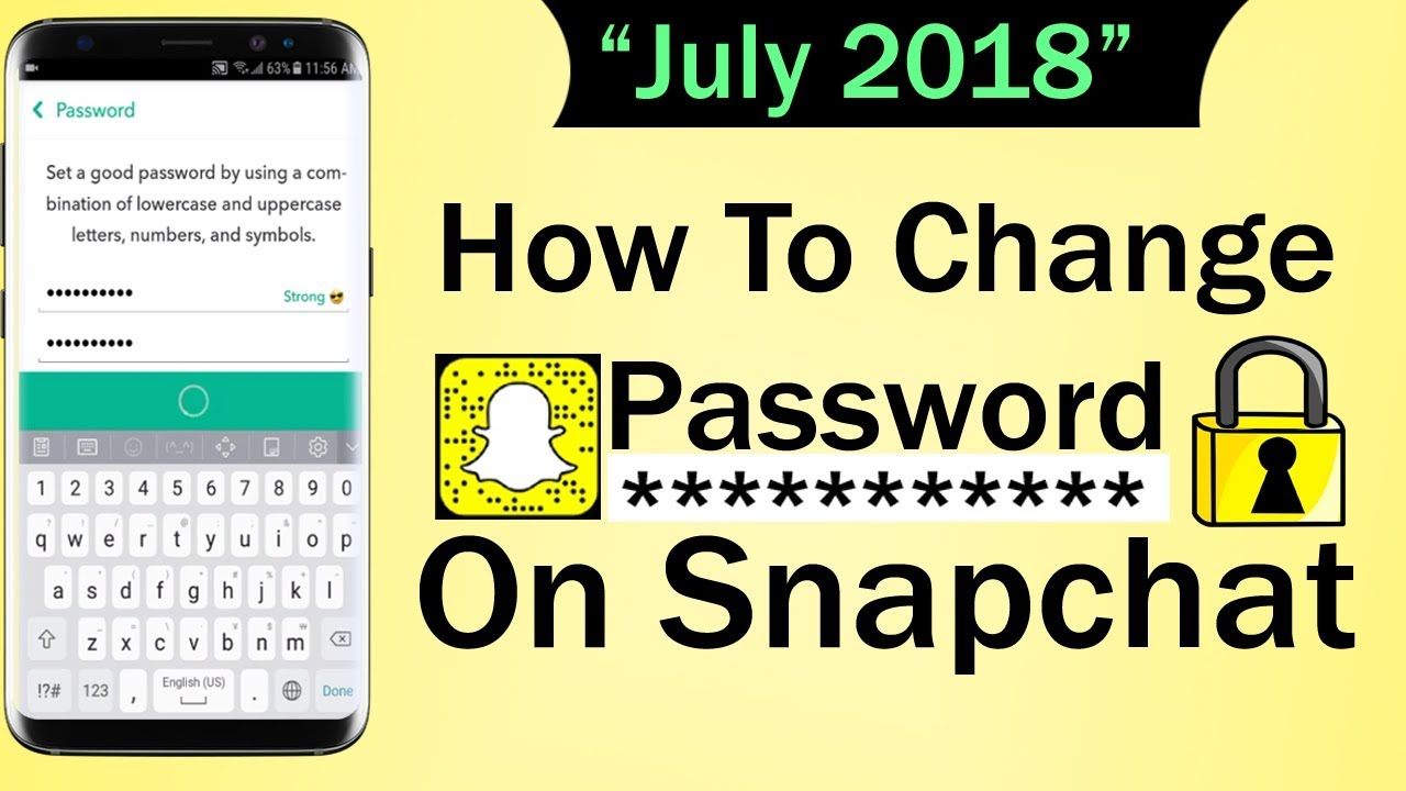 How To Change Password On Snapchat July 2018 Youtube