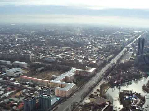 Tashkent TV Tower - view from 220 metres above the ground
