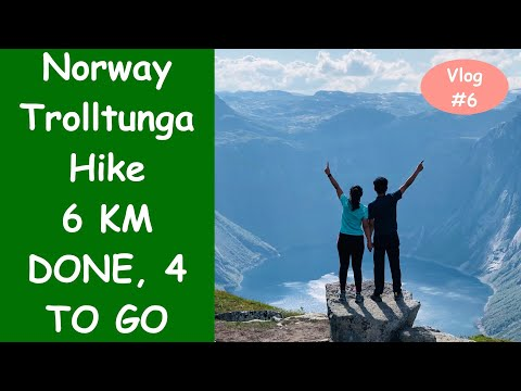 Vlog 6 | Can We Survive most difficult mountain hike | Trolltunga Hike | Norway Road Trip