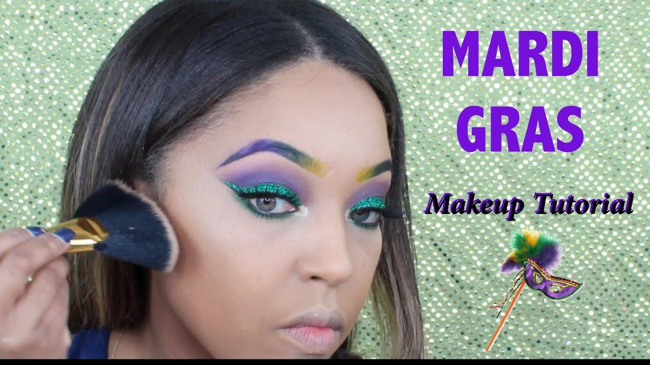 Mardi Gras Makeup Tutorial Teresa Michele Youtube