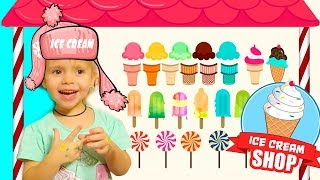 Little Varvara Pretend Play with Ice Cream cake Shop Food Funny Toy story