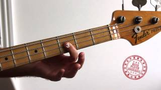 In The Air Tonight by Phil Collins - Bass Guitar Lesson Tutorial Cover Version