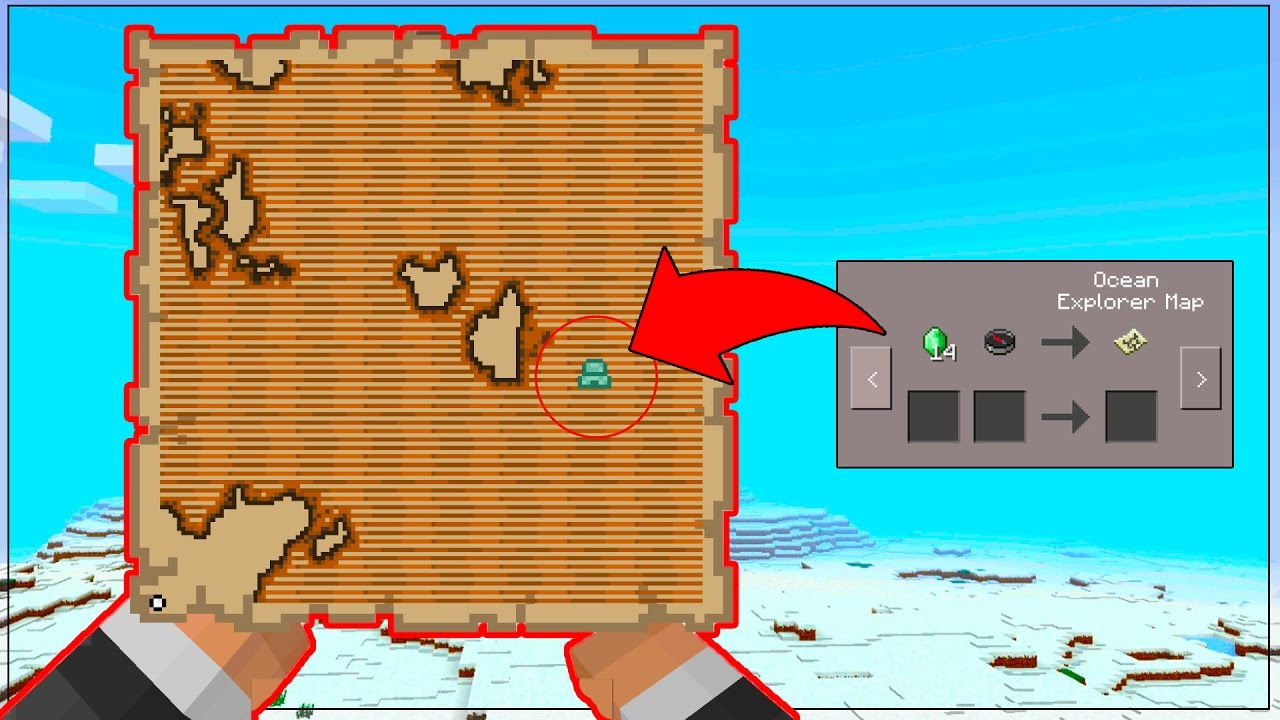 HOW to FIND TREASURE MAPS in Minecraft Pocket Edition! - NEW Minecraft Image Of A Treasure Map Find on a map of jupiter, a map of life, a map of love, a map of odyssey, a map of home, a map of sahara, a map of cascade, a map of time, a map of roosevelt, a map of ocean,