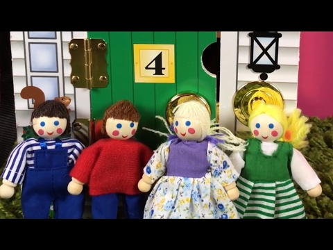 Melissa Doug Take Along Wooden Doorbell Dollhouse Learn Numbers And Colors
