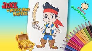 Фото Джейк и пираты Нетландии Раскраска Для детей  Маленький Пират Раскраска из Мультика