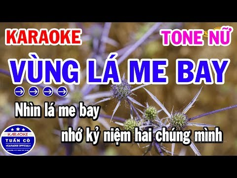 Vùng Lá Me Bay Karaoke Tone Nữ F#m Beat   Nhạc Sống Tuấn Cò
