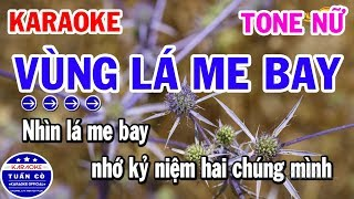 Vùng Lá Me Bay Karaoke Tone Nữ F#m Beat | Nhạc Sống Tuấn Cò