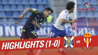 Resumen de CD Tenerife vs Sporting de Gijón (1-0)