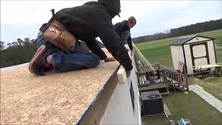 How To Repair Single Wide Mobile Home Trailer Roof Training Video part 2 of 2