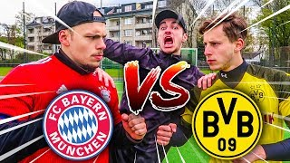 FC BAYERN VS BORUSSIA DORTMUND FUßBALL CHALLENGE !
