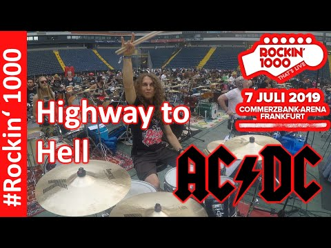 Highway to Hell - Rockin 1000 Frankfurt 2019 - AC/DC -  Drum Cover