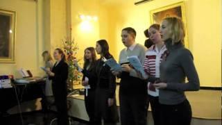 Празднование Рождества. Выступление молодежи.