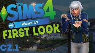 First Look The Sims 4 Wampiry #1 - CAS, nowe ubrania, fryzury, kolory skóry , blizny i inne