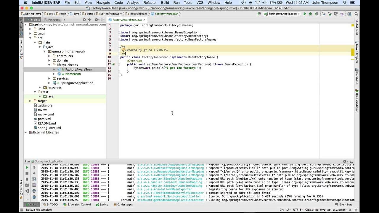 Spring BeanFactoryAware Interface - Spring Framework Guru
