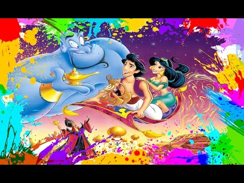Painting Aladdin | Coloring Book Pages for Kids | Paint and color Aladdin