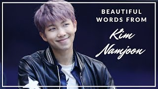 Video Beautiful Words from Kim Namjoon download MP3, 3GP, MP4, WEBM, AVI, FLV Juni 2018
