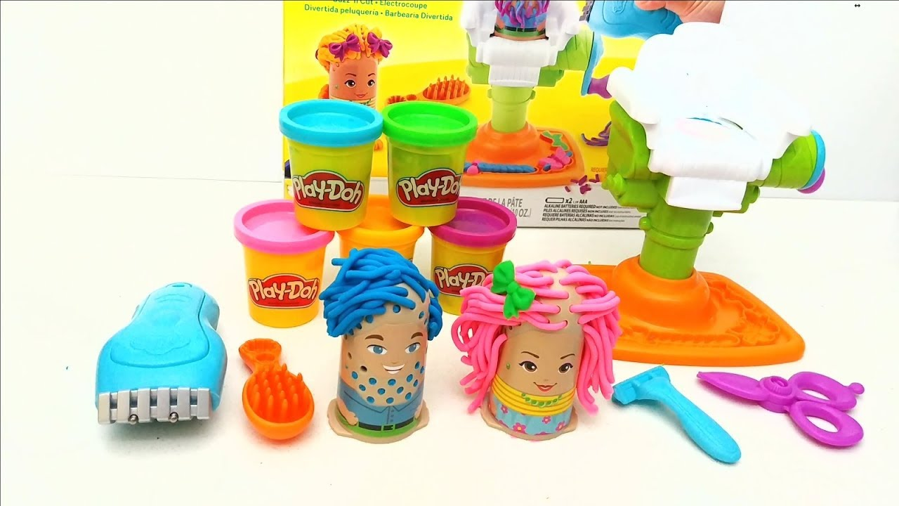 42e70e3e274 Play-Doh Barber Shop (Buzz 'n Cut) Hair Salon - YouTube