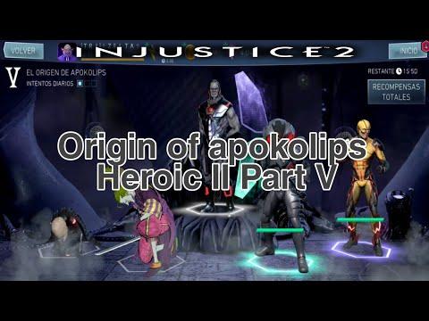 Origin of apokolips Sub Boss BNJ Defeated Heroic II Part V.Injustice 2 mobile  