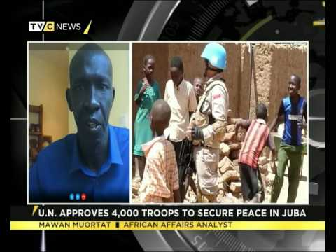 Mawan Muortat speaks on UN's depolyment of 4000 troops to South Sudan