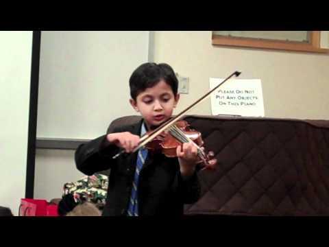 Ayush Violin (1) - Berwyn Montessori Holiday Show 12/22/11