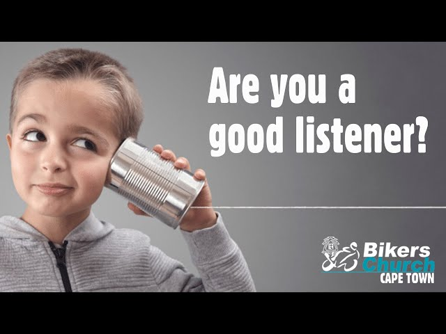 Are you a good listener? – Eddie Roos