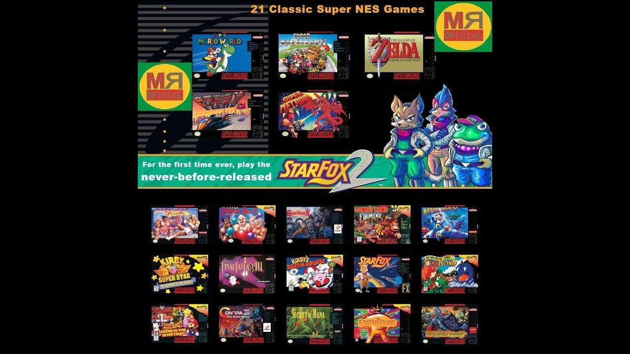 Nintendo Classic Mini Super Nintendo Pack Para Wii Pc Mega