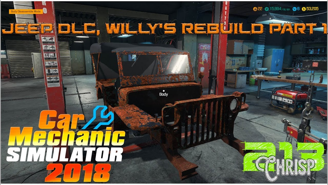 2018 jeep military.  military car mechanic simulator 2018  jeep willyu0027s military edition rebuild part 1 for jeep military h