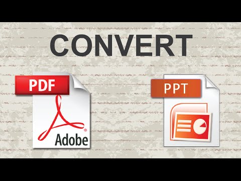 Convert PDF to Powerpoint - 2015