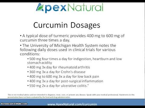 Curcumin Dosage - Video Lesson on Turmeric Curcumin Dosages