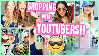 SHOPPING WITH NIKI, EVA, + GABI!!! YOUTUBERS GO SHOPPING!!
