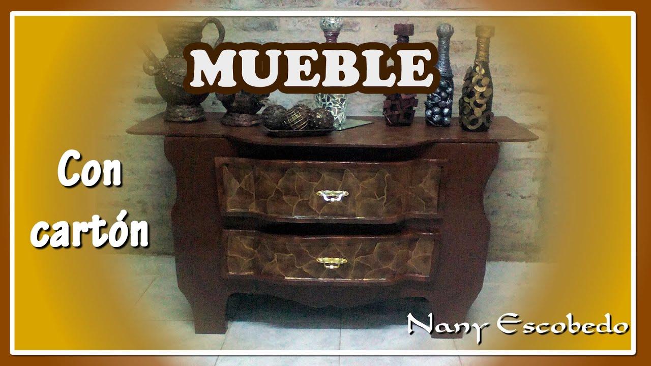 Mueble con cart n youtube for Hacer muebles con carton