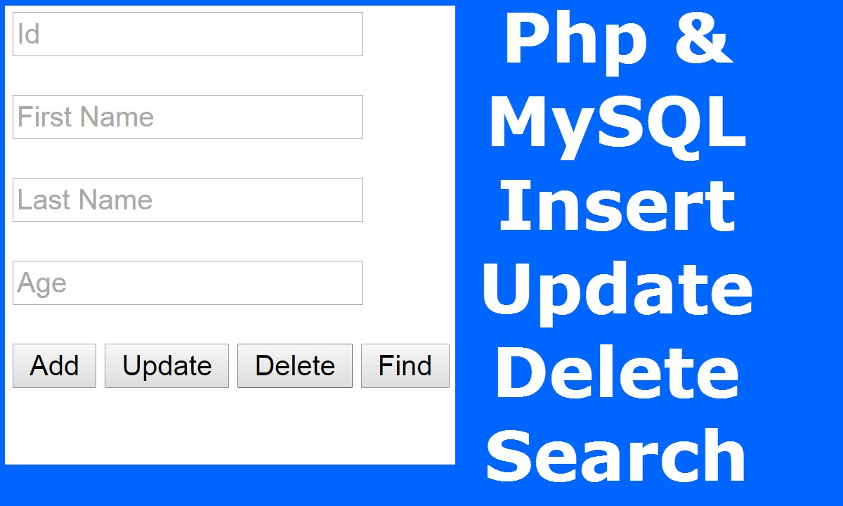 Php How To Insert Update Delete Search Data In Mysql Database Using With Source Code 1 You