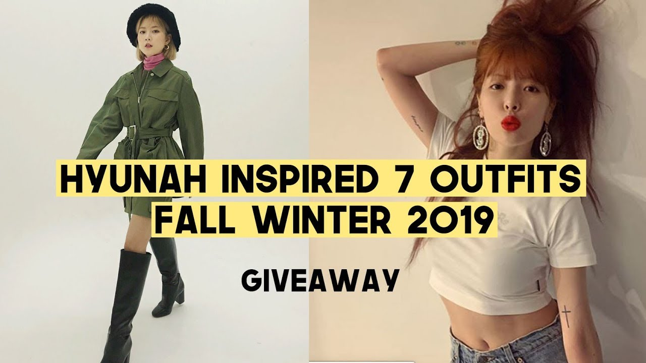 Hyunah Inspired 7 Fall Winter Outfits 2019 (GIVEAWAY) | Q2HAN 7