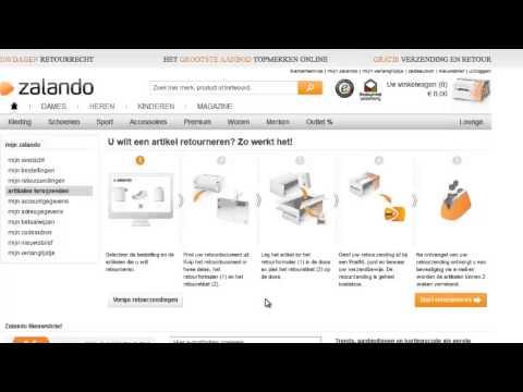 Zalando inloggen en retourneren youtube - Zalando commande en traitement ...