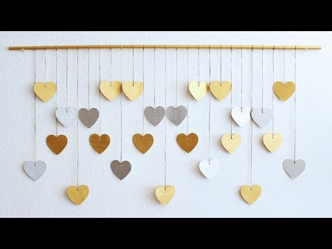 Day 1 | DIY Wooden Hearts Wall Hanging Advent
