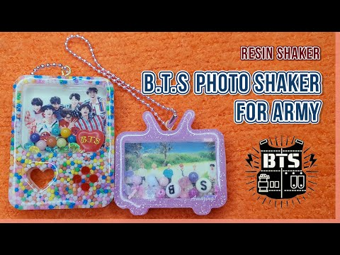 BTS 포토 쉐이커 for ARMY|#BTS shaker|watch me resin|resin tutorial|resin shaker|DIY|레진쉐이커|resin craft|