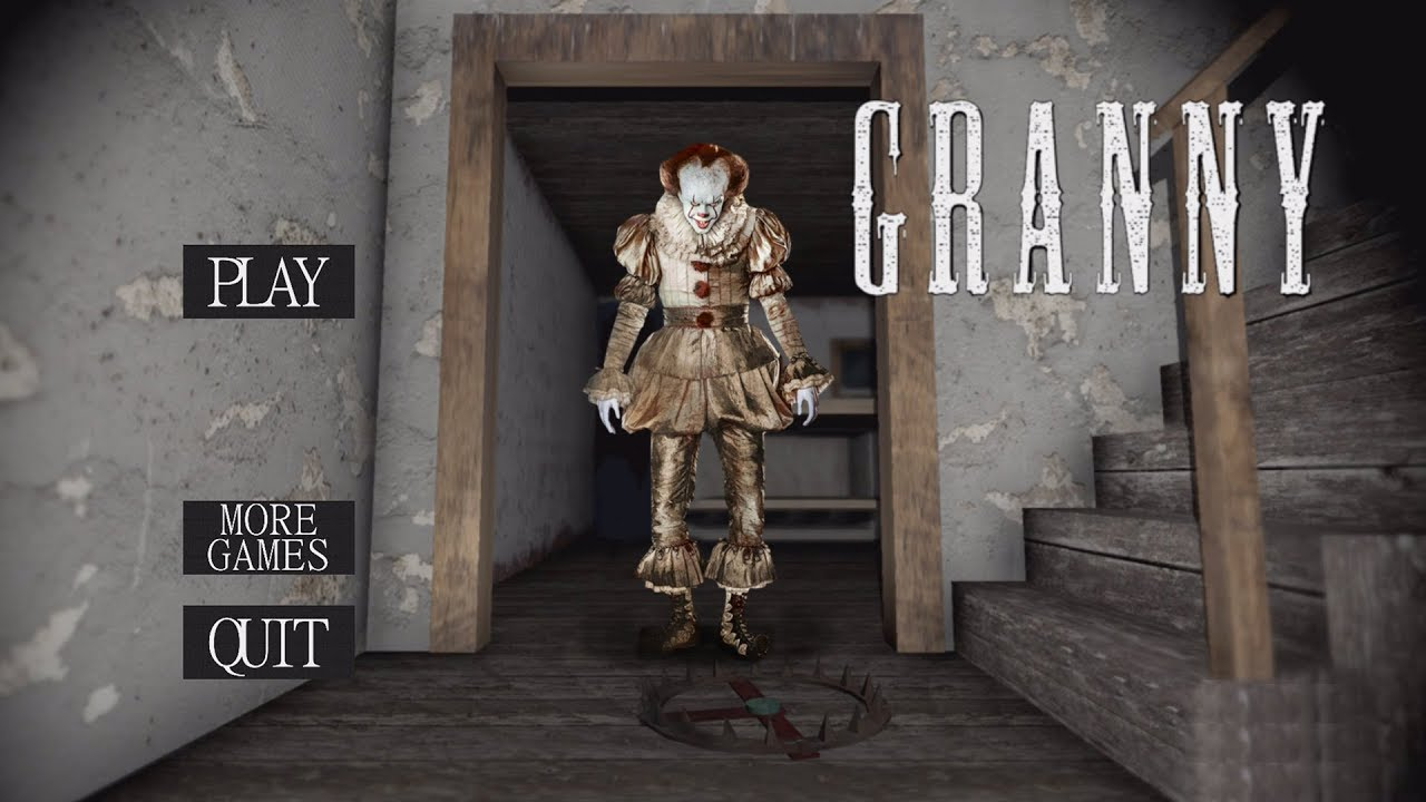 Roblox Pennywise Game Granny Is Pennywise The It Clown Granny Horror Game Youtube