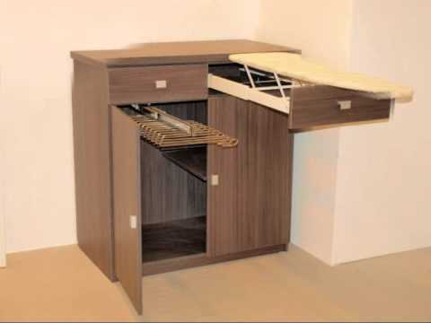 Mueble de planchar youtube for Mueble para tabla de planchar