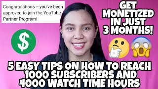HOW TO MONETIZE YOUR YOUTUBE CHANNEL l HOW TO REACH 1000 SUBSCRIBERS AND 4000 WATCH TIME HOURS 2019