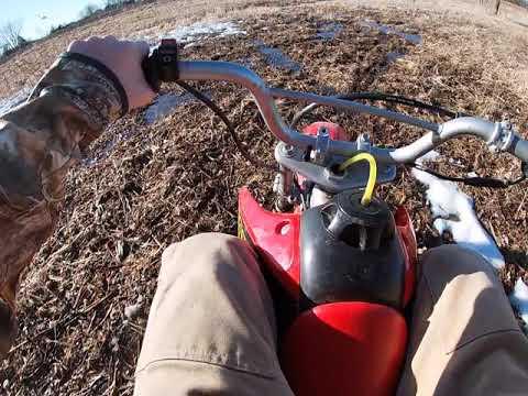 Riding the Dirt bike