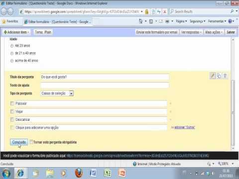 Como fazer um Questionario no Google Docs gratuito