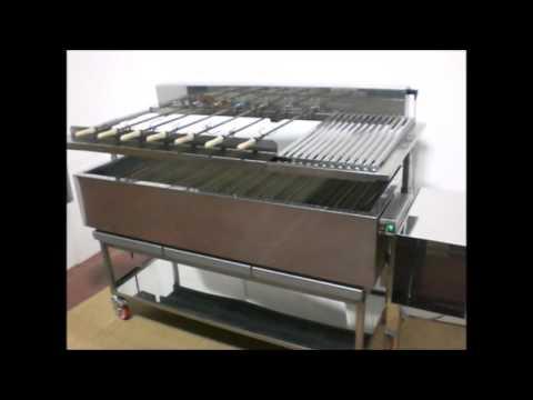 Barbecue per churrasco professionale idea ferro youtube for Griglia per barbecue bricoman