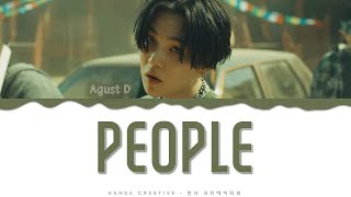 Gambar cover Agust D - 'People' Lyrics Color Coded (Han/Rom/Eng)