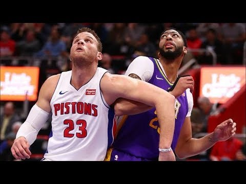 Anthony Davis vs Blake Griffin! Davis 38 Points 10 Rebounds 2017-18 Season