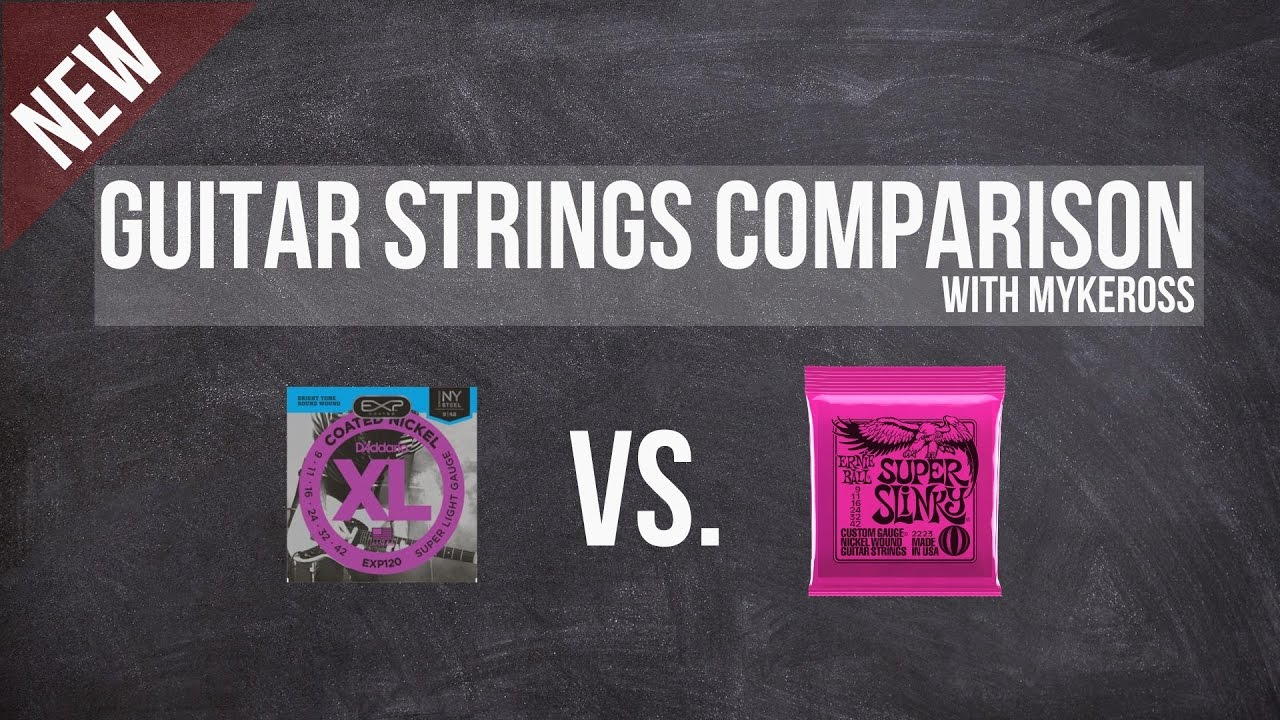 guitar strings comparison ernie ball vs d 39 addario youtube. Black Bedroom Furniture Sets. Home Design Ideas