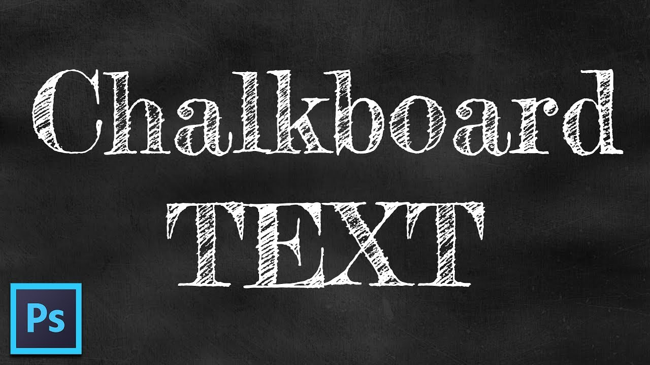 chalk text effect chalkboard background free font photoshop tutorial
