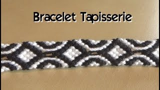 "DIY : Friendship bracelet """"tapestry""pattern (intermediate level)"