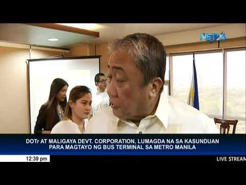 DOTR at Maligaya Devt. Corp., lumagda sa kasunduan para magtayo ng bus terminal sa Metro Manila